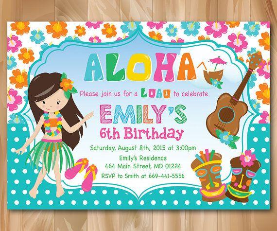 1000+ Ideas About Luau Birthday Invitations On Pinterest