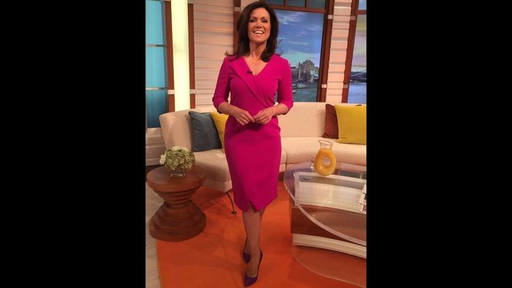 Susanna Reid whips legs out in striking pink frock