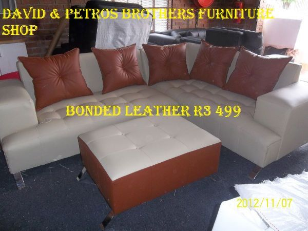 Bonded 80% leather corner l  It comes with all colour/mix colours