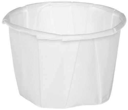 Genpak F125 1.25-Ounce Capacity 1-1/8-Inch Height White Color Pleated Paper Portion Cup 250-Pack (Case of 20) by Genpak. $68.44