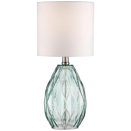 Rita blue green glass accent table lamp