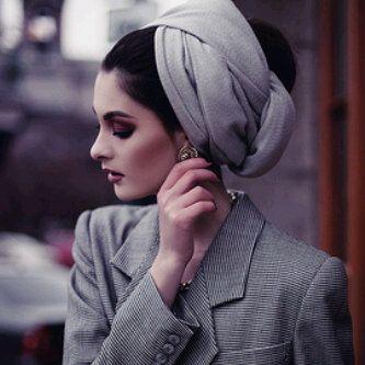 Gray turban