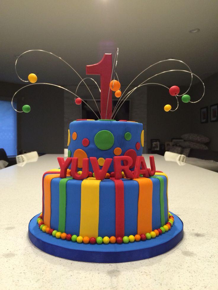 Fun & Colourful Birthday Cake