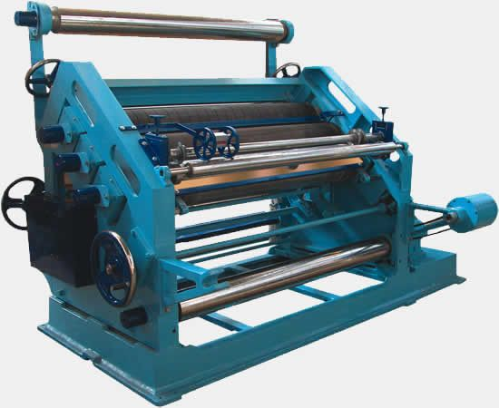 This high speed single facer offer's a high rate of production and enhanced efficiency. The rolls are mounted on roller bearing for smooth running and longer life, minutely finished flute roll results in perfect formation of flutes.  High speed production and the making of quality board across a wide range of paper grades demand precise temperature & moisture control. The integral segments are provided SFO 50 for thermic fluid or steam heating system.