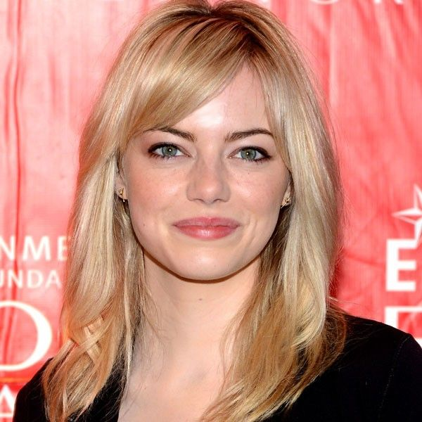 Emma Stone with layered midi haircut