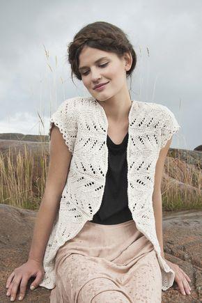 Stickad damväst Novita Kaisla | Novita knits