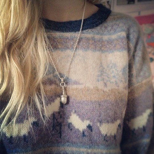 Winter is coming and it's lovely to cosy up in a big jumper.