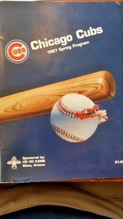 Baseball Program Spring Training 1987 Chicago Cubs, Unscored