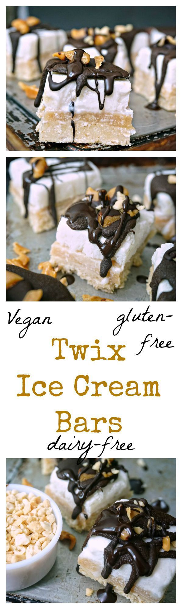 Twix Ice Cream Bars-Vegan, Gluten and Dairy free, with NO refined sugar and no bake time! Easy, sinful dessert perfect for summer nights! | savoringsimple.com