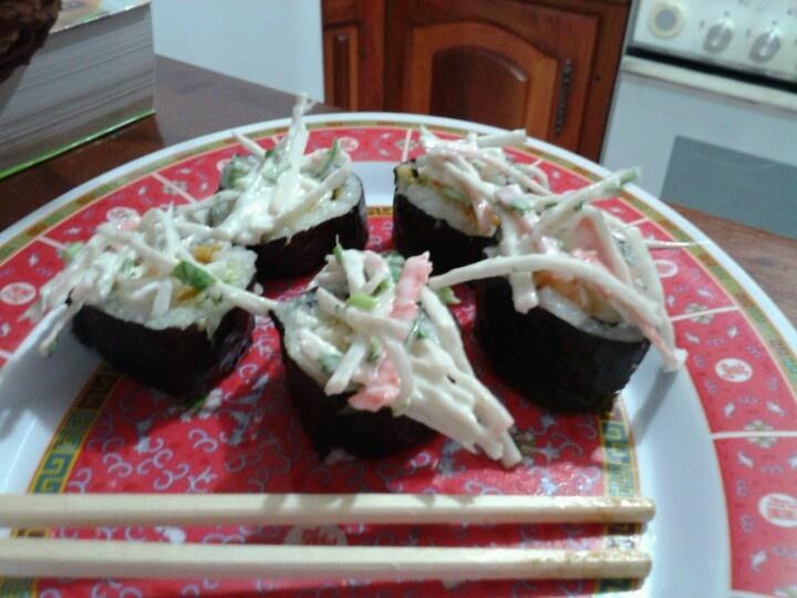 Rico sushi hecho en casa!! :-)