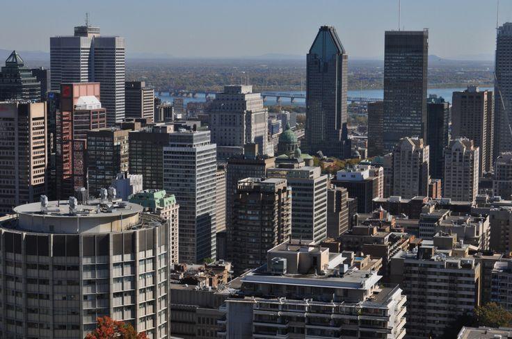 Montréal vue du parc royal
