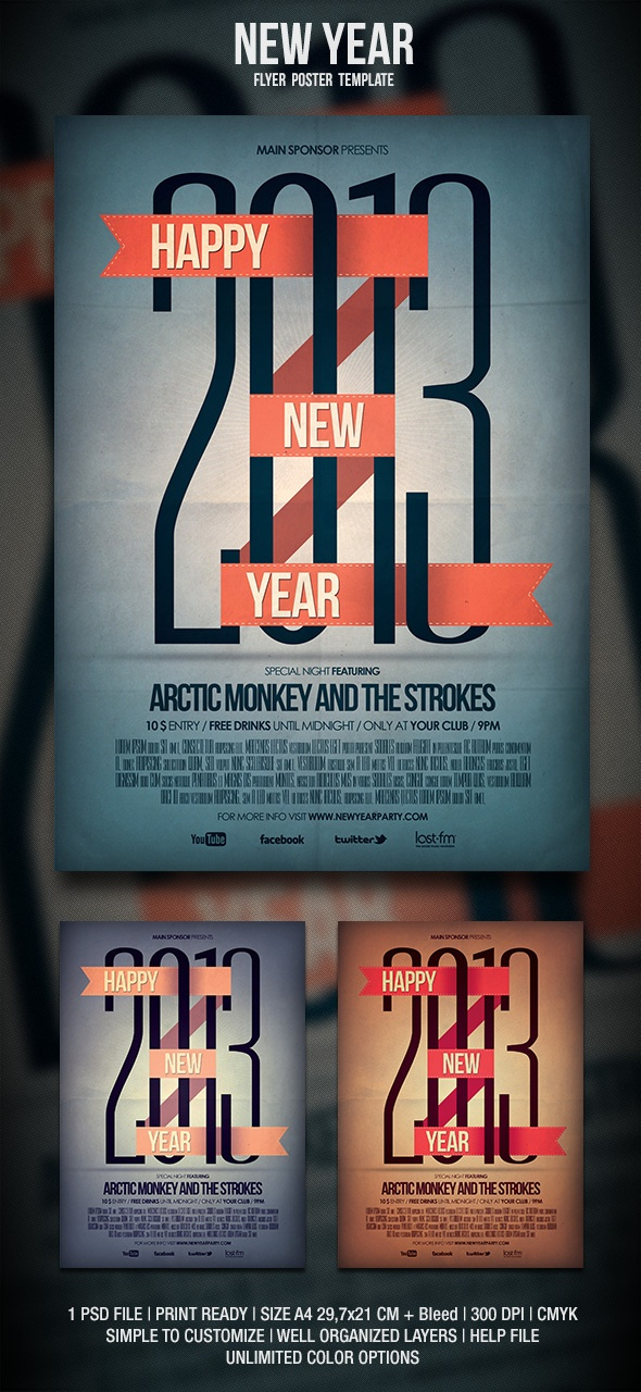 37 best New Year Ideas images on Pinterest Flyer design, Flyer - new year poster template