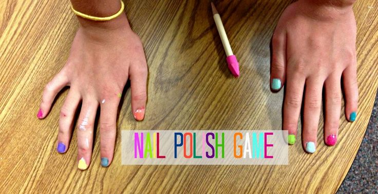 nail polish game. it's like musical chairs..but with all different colors of nail polish. when the music stops you have to paint a nail. #mutual #beautynight