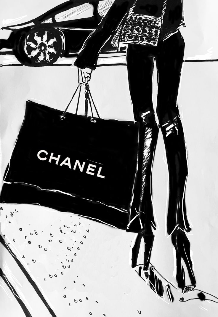 """""""The Chanel bag"""" designed by Lisa Carboni www.lisacarboni.it #chanel #fashion"""