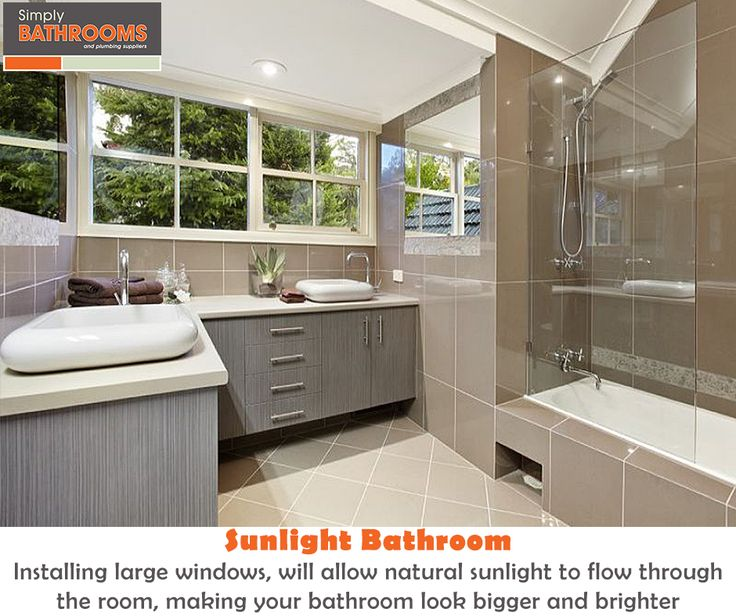Dull and dark bathroom getting you down? Install some windows… #DreamBathroom #BathroomStyles #SimplyBathrooms