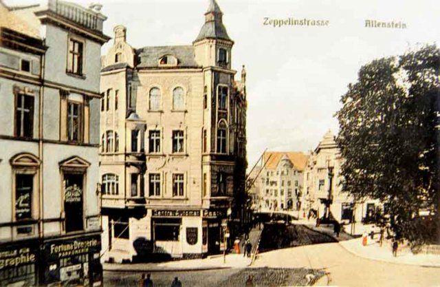 Allenstein / Ostpreußen, Zeppelinstraße ca.1911