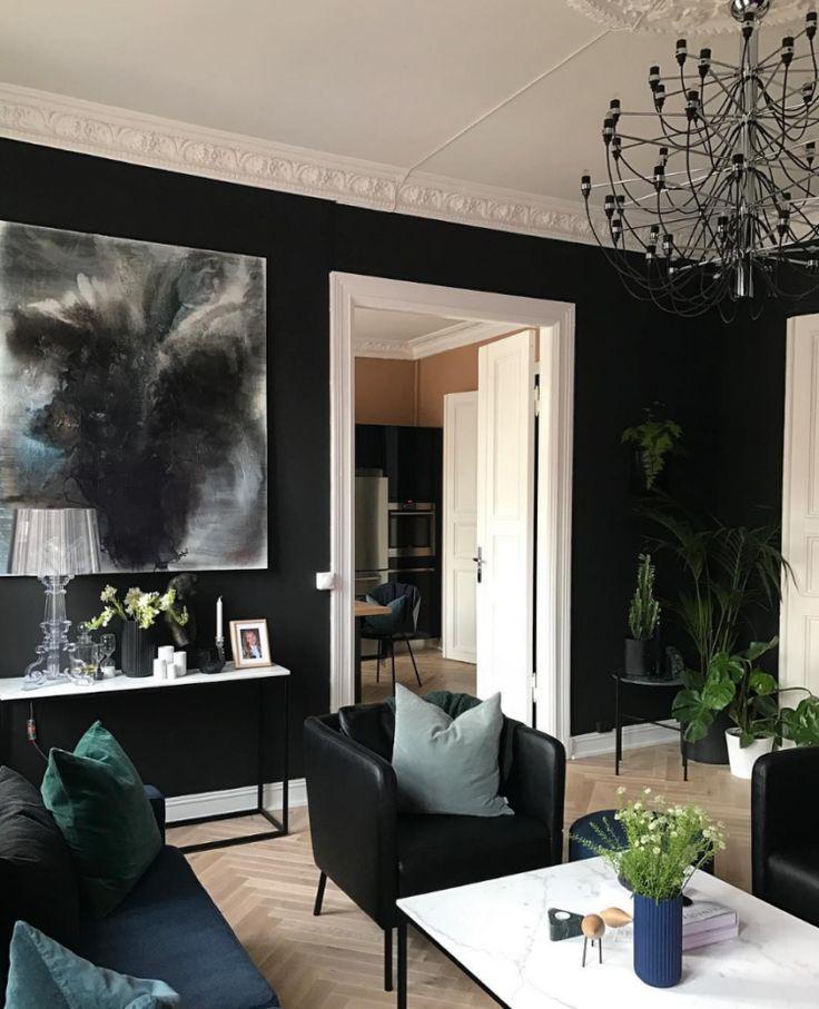 #livingroom #blackinterior #blackwalls | 10 Beautiful Rooms - Mad About The House