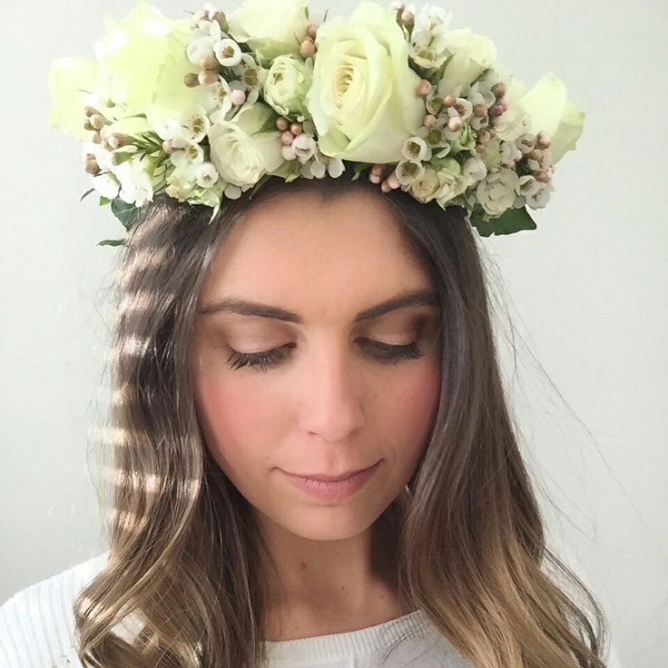 Wedding Flower Crown by Fancy Flowers created by Felicity