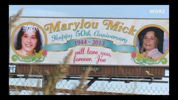 A Sign You Are In Love - Husband Bought A Billboard For His 50th Anniversary To Tell His Late Wife He Still Loves Her