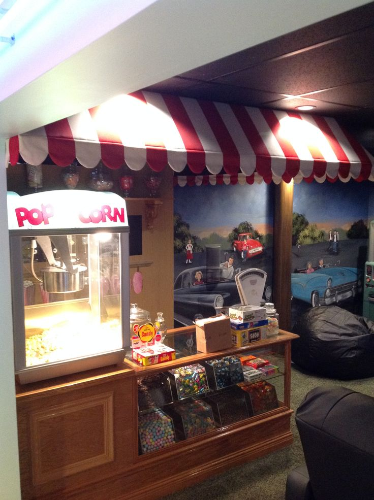 50 S Drive In Theater Room Candy Counter 50 S Diner
