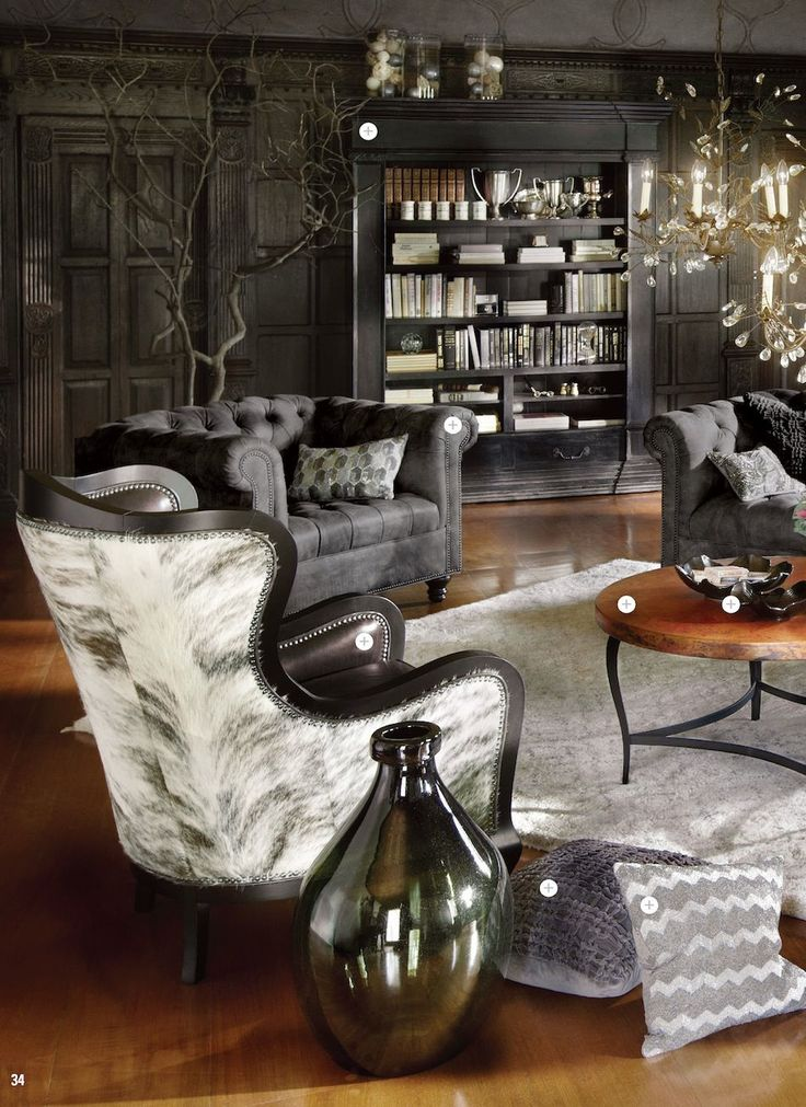 Catania Leather Chair/Arhaus   Also For The Couch.