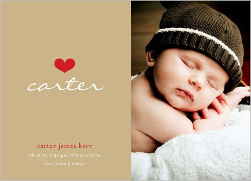 We Heart Boy Birth Announcement
