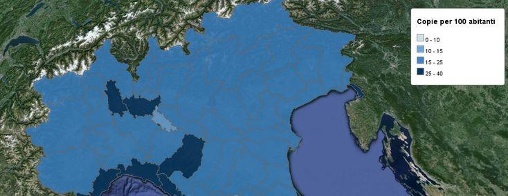 I Primi 20 Settimanali più Diffusi per Provincia: Mappa Interattiva