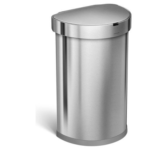 Buy simplehuman 45L Semi Round Sensor Bin - Stainless Steel at Argos.co.uk - Your Online Shop for Kitchen bins, Kitchenware, Cooking, dining and kitchen equipment, Home and garden.
