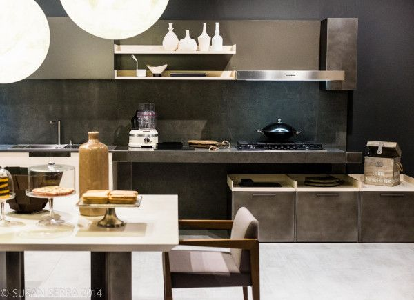 """​Mixed Messages."" Complex in some ways, simple in others, with contrasting philosophies​ within the same kitchen design"