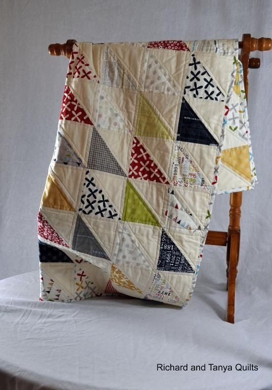 Looking for your next project? You're going to love Half Square Triangle (HST) Quilt by designer Richard Healey. - via @Craftsy