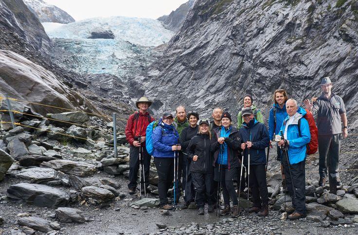 Checking out Franz Josef Glacier form the terminal face walk.