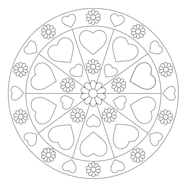 Herz-Mandala 9