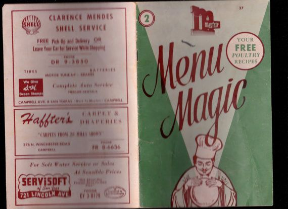 Type: vintage MENU MAGIC Cook Booklet Grocery Store Chicken Poultry Advertising recipes pamphlet give away home cooking
