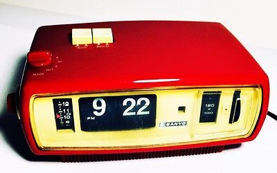RADIO Vintage SANYO 6CA-T45CA Sveglia Orologio Cartellini FUNZIONANTE JAPAN | eBay