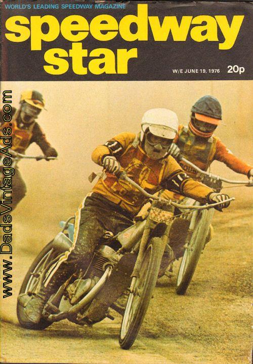1976 June 19 Speedway Star Motorcycle Racing Magazine