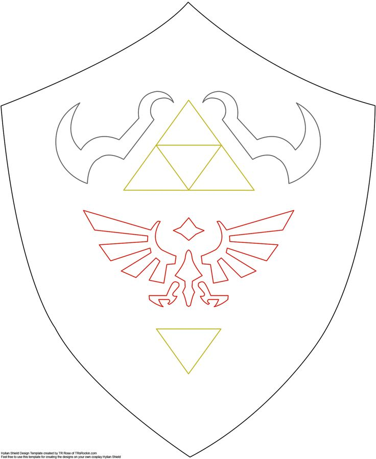shield pattern, for future link/zelda costume http://www.firefly-path.net/?p=2055