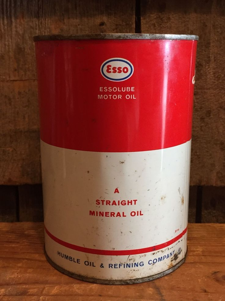 Vintage ESSO Essolube Humble Oil Refining Co Gas Station 1 Quart Metal Can  | eBay
