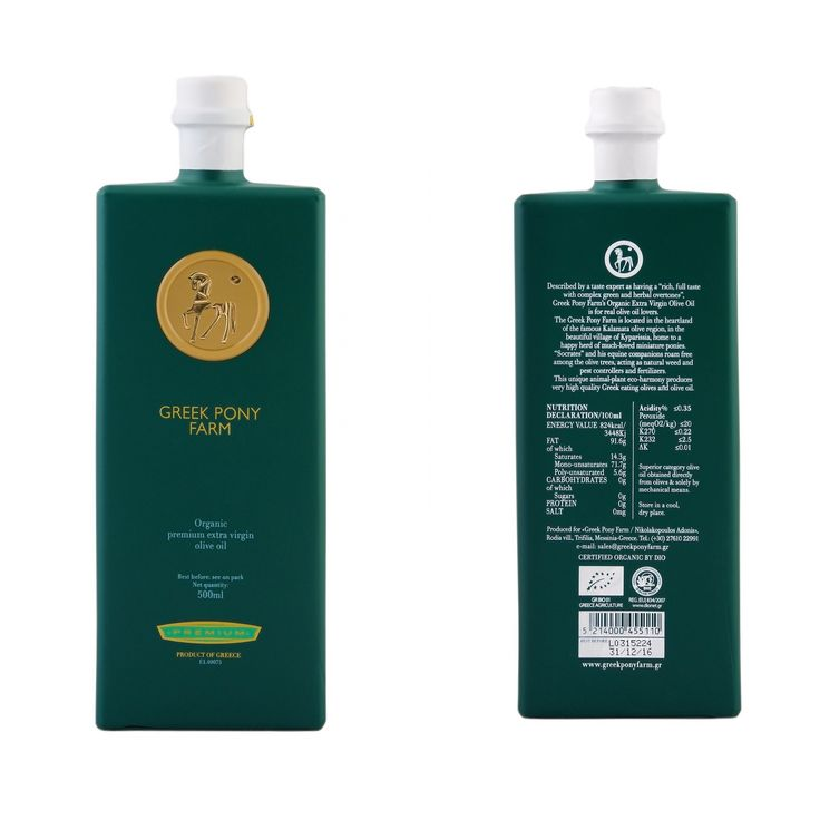 "•PREMIUM• •GREEK PONY FARM• Extra virgin oil from Greece, Messinia 500ml •Πολυ χαμηλής οξυτητας(<0,35) •Πιστοποιημένο βιολογικό εξαιρετικό παρθένο ελαιόλαδο •Με πλούσια αρώματα κ πικάντικη γεύση •Θεμέλιο κάθε υγιεινής Μεσογειακής διατροφής •Καλλιεργείται παραδοσιακά •Απο καρπούς που διαλέγονται ένας-ένας με το χέρι •Μονοποικιλιακό ""Κορωνέϊκη"" •Ιδανικό για σαλάτες,σωτάρισμα,μαγείρεμα,τηγάνισμα Απολαύσετε το κάθε μέρα! •Very low accidity(<0,35) •Certified organic extra virgin olive oil •Rich…"
