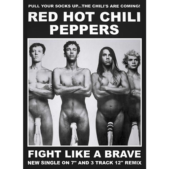 "Poster verticale ""Fight like a brave"" #RedHotChiliPeppers. Dimensioni: 59,5 x 84 cm."