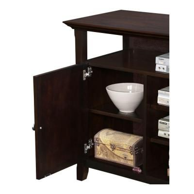 Simpli Home Amherst 54 in. W x 32 in. H Tall TV Stand in Dark American Brown-INT-AXCAMH-TV-DAB - The Home Depot