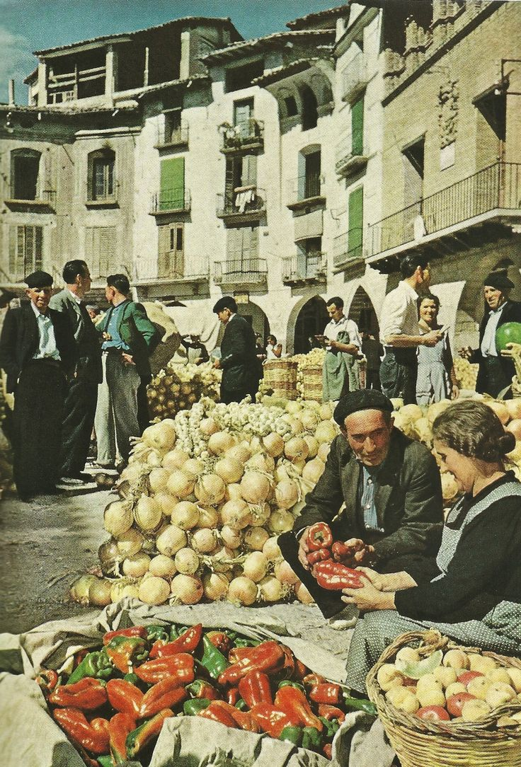 Graus market inHuesca, Spain  National Geographic | March 1956