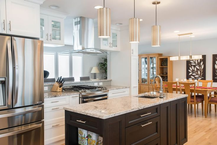 #Transitional #Kitchen #remodel With #Columbia Cabinets Using #WhitePainted  Cabinets As Well