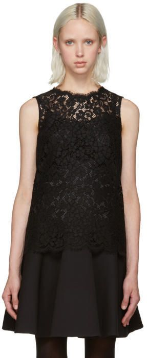 Dolce & Gabbana Black Lace Tank Top