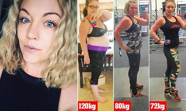 Woman loses 50 kilos by power lifting... but still enjoys a doughnut! #DailyMail