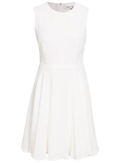 Ana Crepe S/Ls Flare Dress - French Connection - Vit - Festklänningar - Kläder - Kvinna - Nelly.com