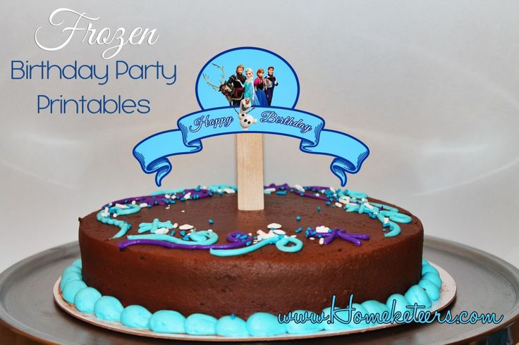 Frozen Printable Birthday Cake Topper FREE