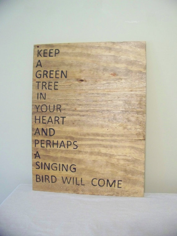 eco friendly...: Green Trees, Inspiration, Heart Mind And Spirit, Green Design, Heart Chinese, Green Quotes, Diy, Chinese Proverbs