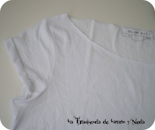 Tutorial reciclaje camiseta de hombre. DIY T-shirt oversize