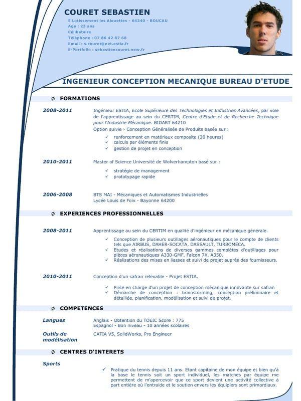 Exemple de CV ingénieur matériaux en 2020 | Cv ingenieur ...
