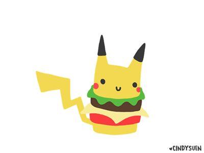 GIF: Pikachu Burger by Cindy Suen